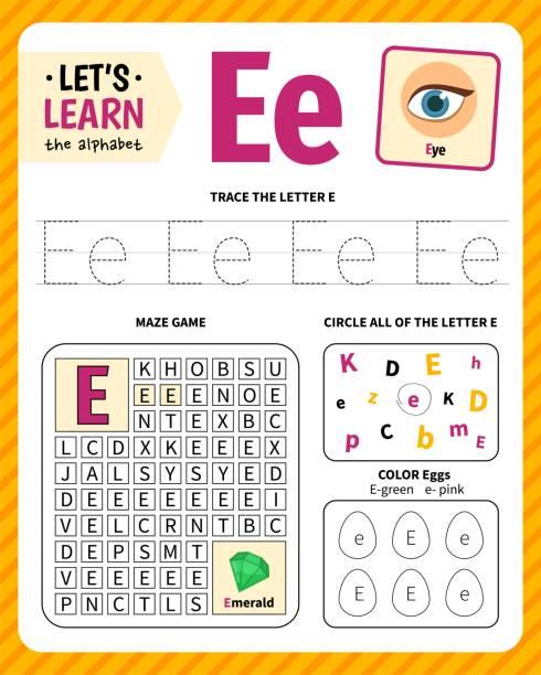 stockillustraties, clipart, cartoons en iconen met kinderen leren materiaal. - e learning