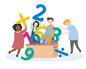 Kids learning numbers and mathematics
