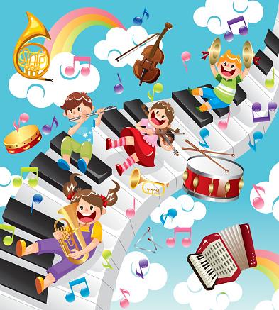 Kids like music