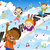 istock Kids Like Piano 946048934