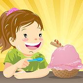 Kids taste for love ice-cream.