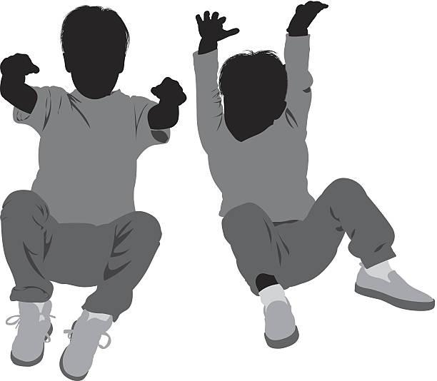 Kinder auf dem Boden liegen – Vektorgrafik