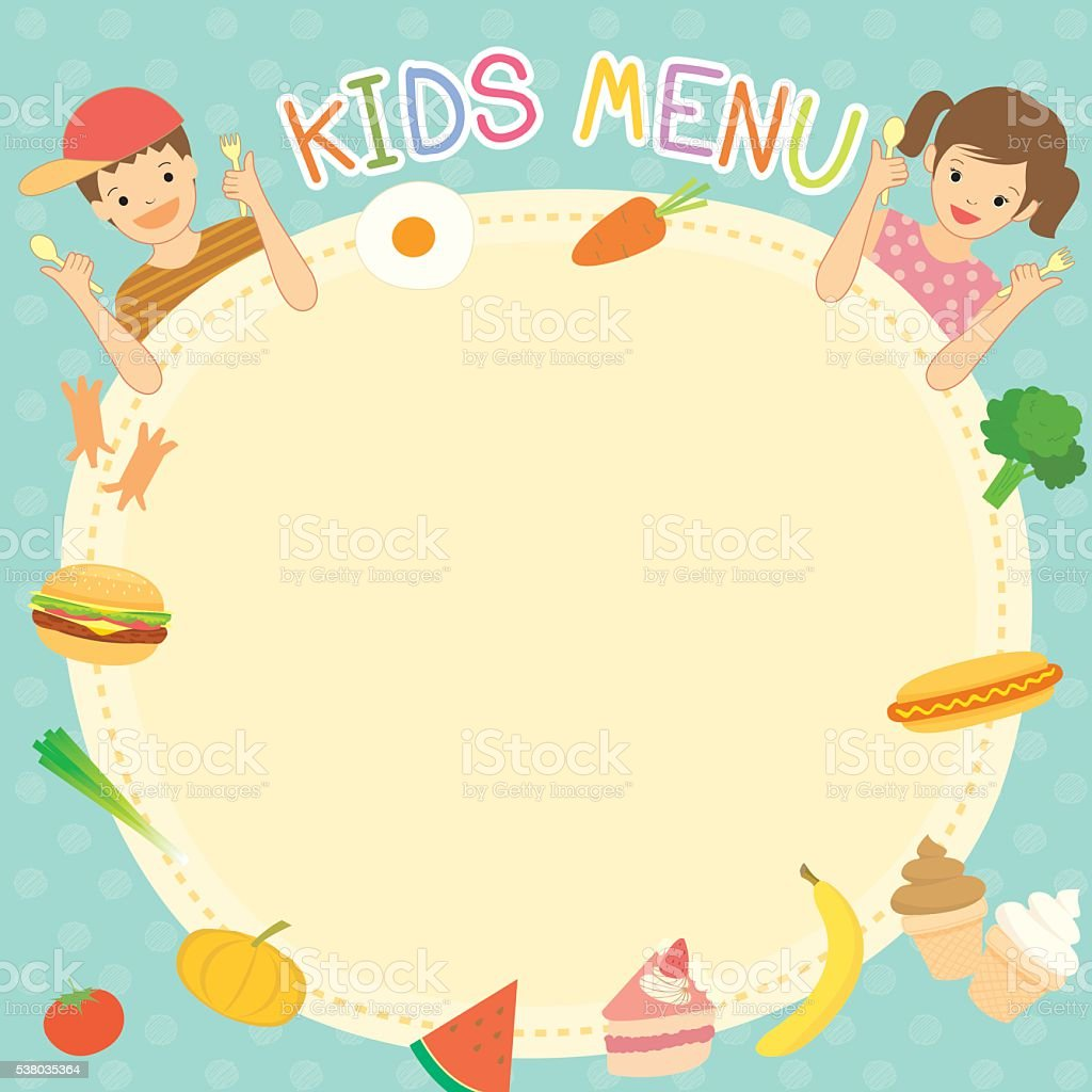 Kids Menu Template Stock Vector Art & More Images of Backgrounds ...