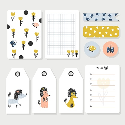 Kids notebook page template