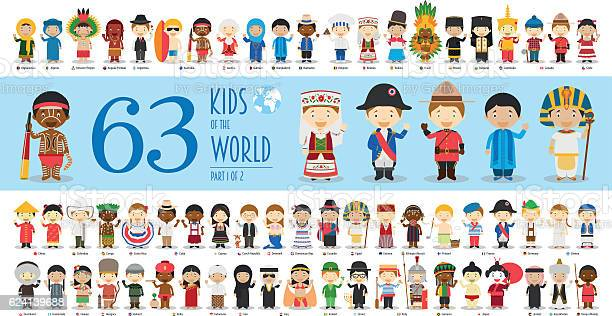 Kids of the world part 1 63 children characters vector id624139688?b=1&k=6&m=624139688&s=612x612&h=fcvo16qs972r i0b4f3aryedfqr0ll0lq0dhyu8meww=