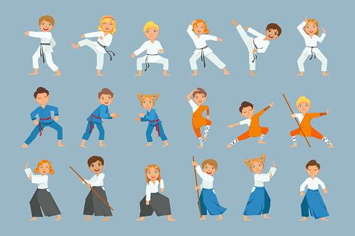 Kids On Martial Arts Training