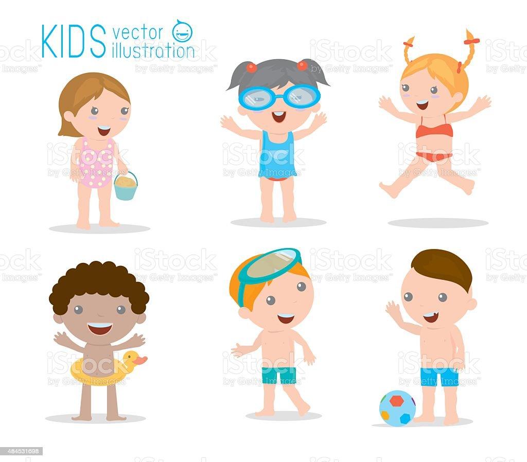お子様にはビーチ子供外遊びベクトルイラスト 2015年のベクターアート