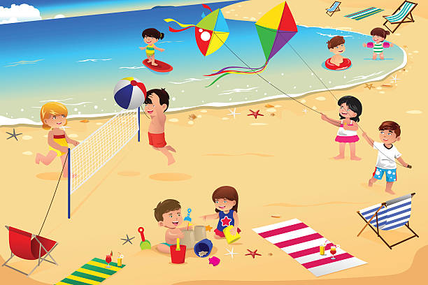 Best Kids Beach Illustrations, Royalty-Free Vector ...