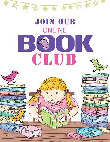 Kids Online Book Club Invitation Template