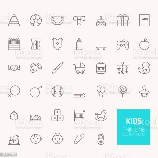 Kids outline icons for web and mobile apps vector id484202702?b=1&k=6&m=484202702&s=612x612&h=dmwklzgm1ywsno8brnatvyuvuujatpnyd2q8gzaqw8u=