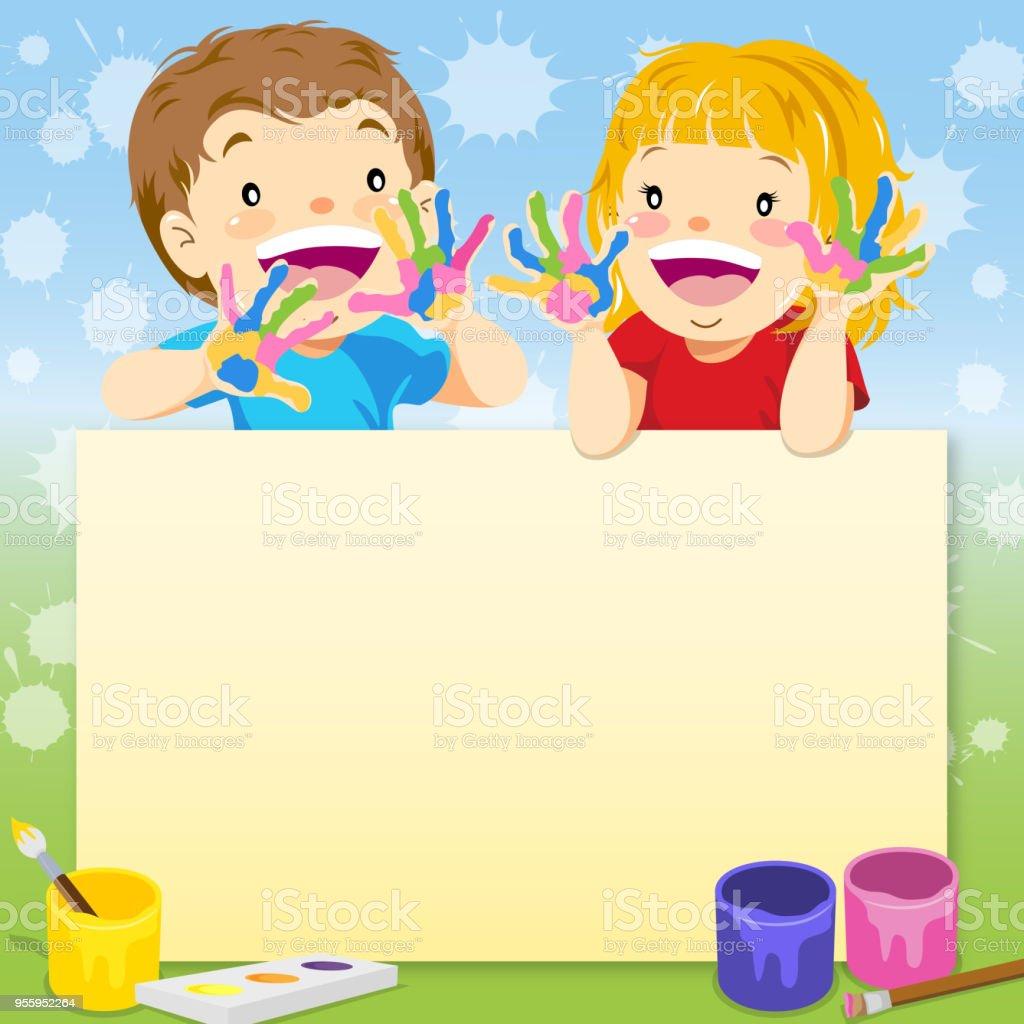 Enfants Peinture Avis Vecteurs Libres De Droits Et Plus Dimages
