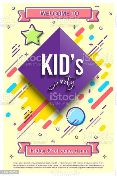 Kids party design template vector illustration with mbe style vector id964956236?b=1&k=6&m=964956236&s=612x612&h=bcvwv7wsmq  hnelkb5zv1pfzfaq19tm15 fraqubci=