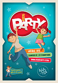 Kids Party Poster Design Template
