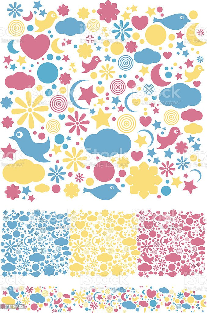 kids pattern vector art illustration