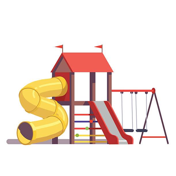 kids playground equipment - recess stock illustrations, clip art, cartoons, & icons