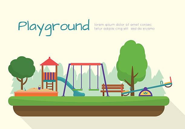 Terrain de jeux pour enfants ensemble. - Illustration vectorielle