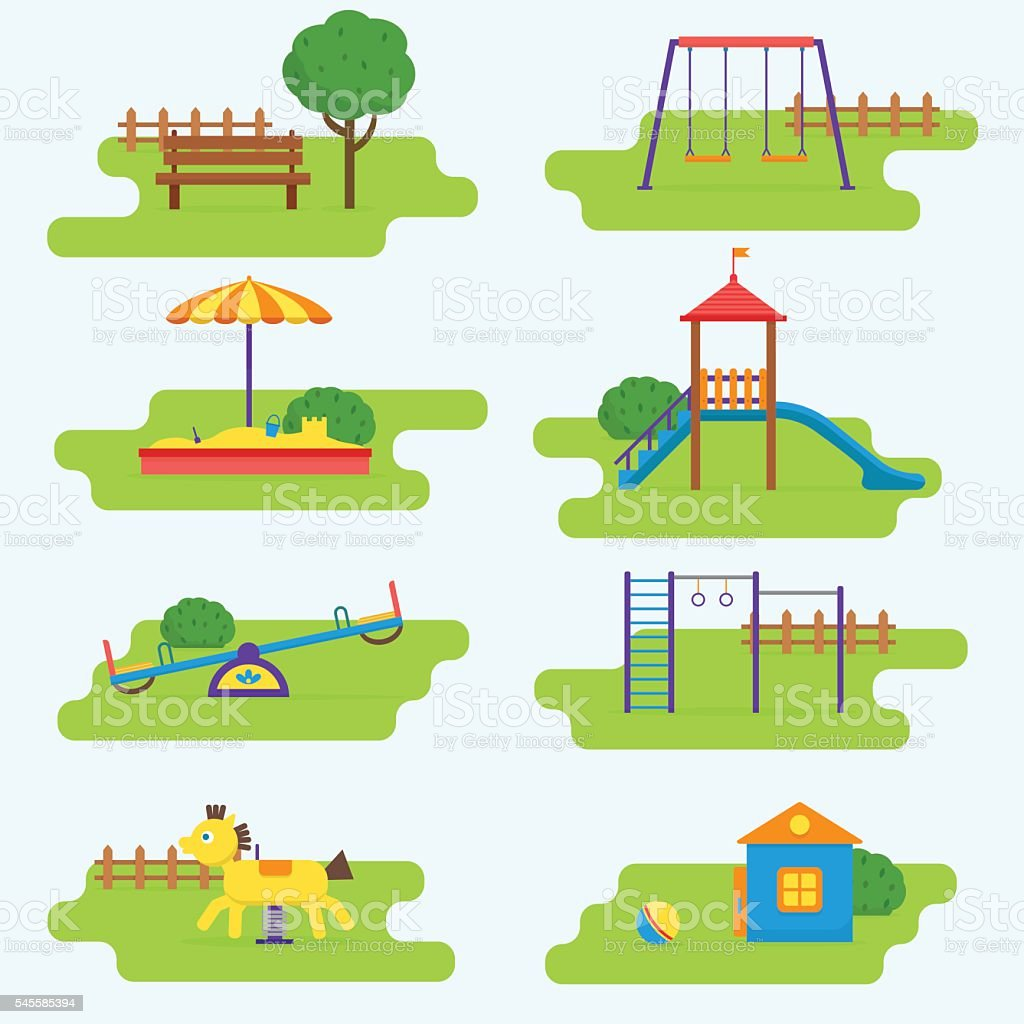 Kinderspielplatz set. – Vektorgrafik