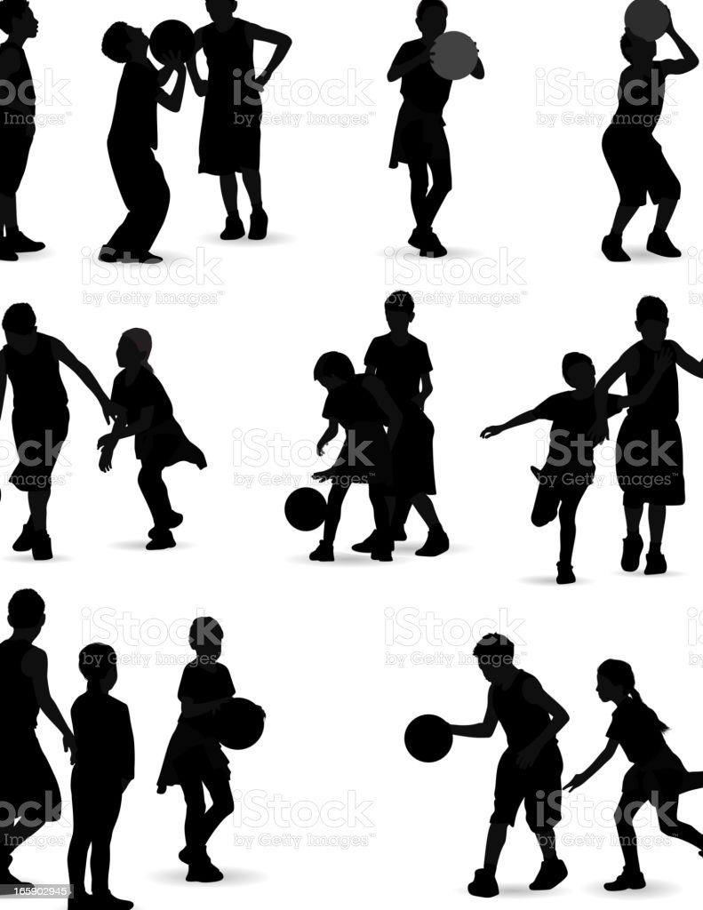 kids playing basketball stock vector art 165902945 istock