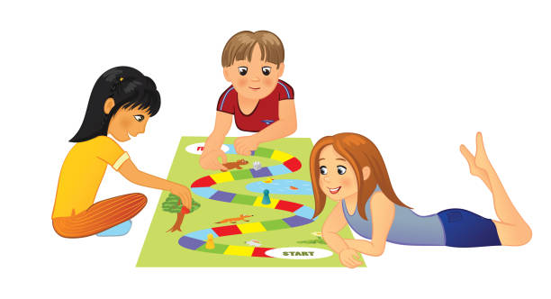 Best Playing Board Games Illustrations Royalty Free Vector