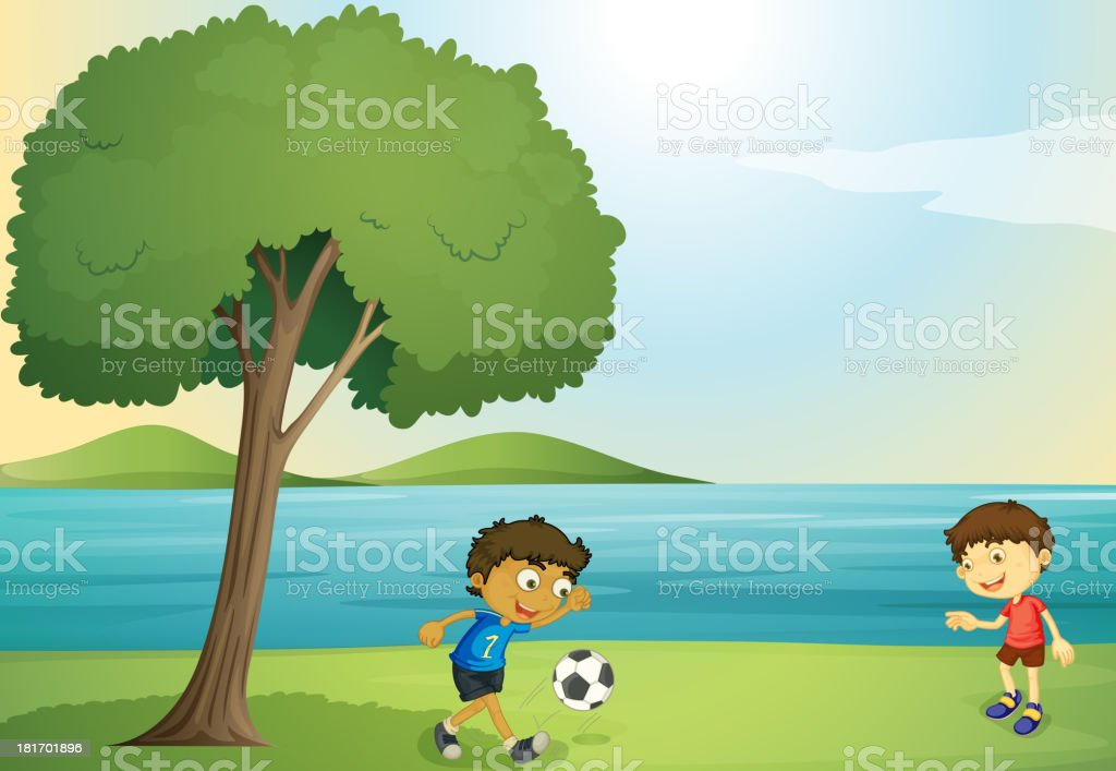 Kids playing football royalty-free kids playing football stock vector art & more images of adult