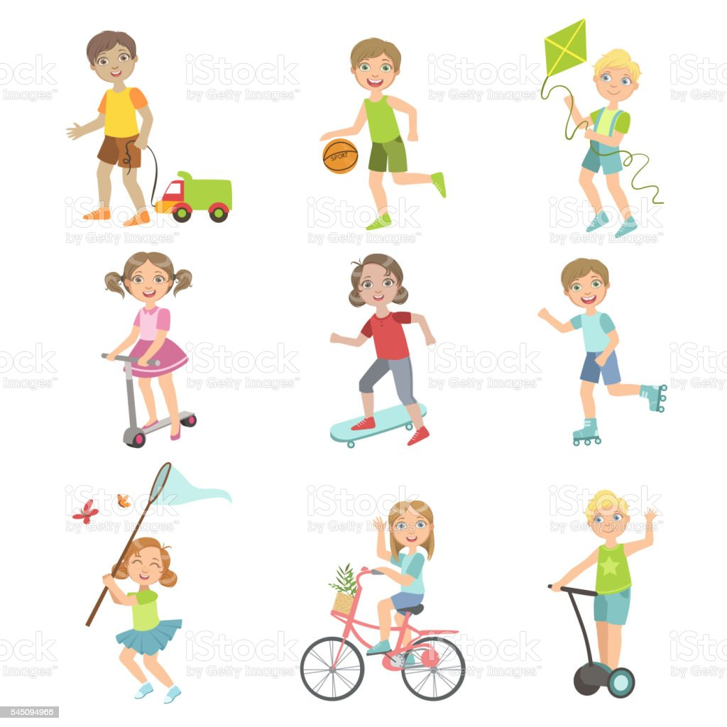 子供外遊びセット おもちゃのベクターアート素材や画像を多数ご用意