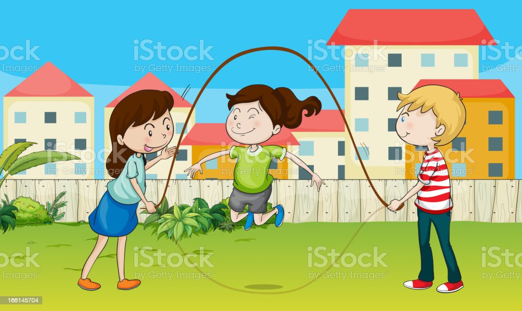 Kids playing rope royalty-free kids playing rope stock vector art & more images of adult
