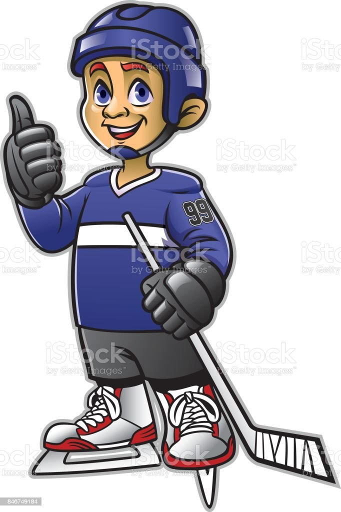 Kids Playing The Ice Hockey Stock Illustration Download Image Now Istock