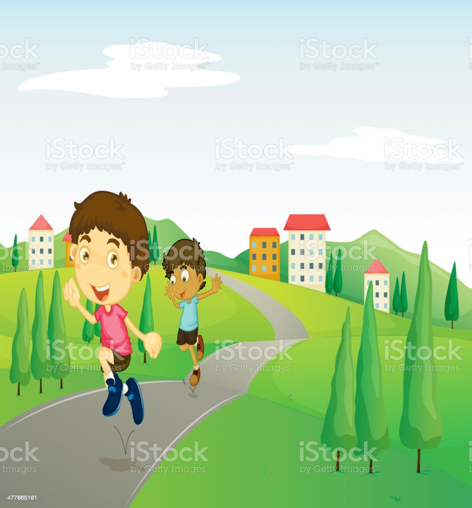 Kids playing royalty-free kids playing stock vector art & more images of adult