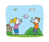 istock Kids playing with ball 1272229444