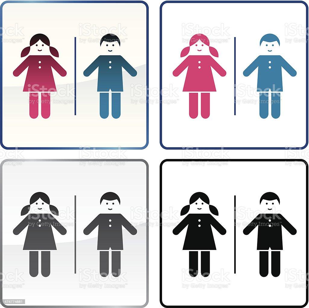 Bambini Insegna Di Toilette Pubblica - Immagini vettoriali stock e ...