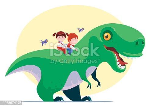 istock kids riding dinosaur 1278574276