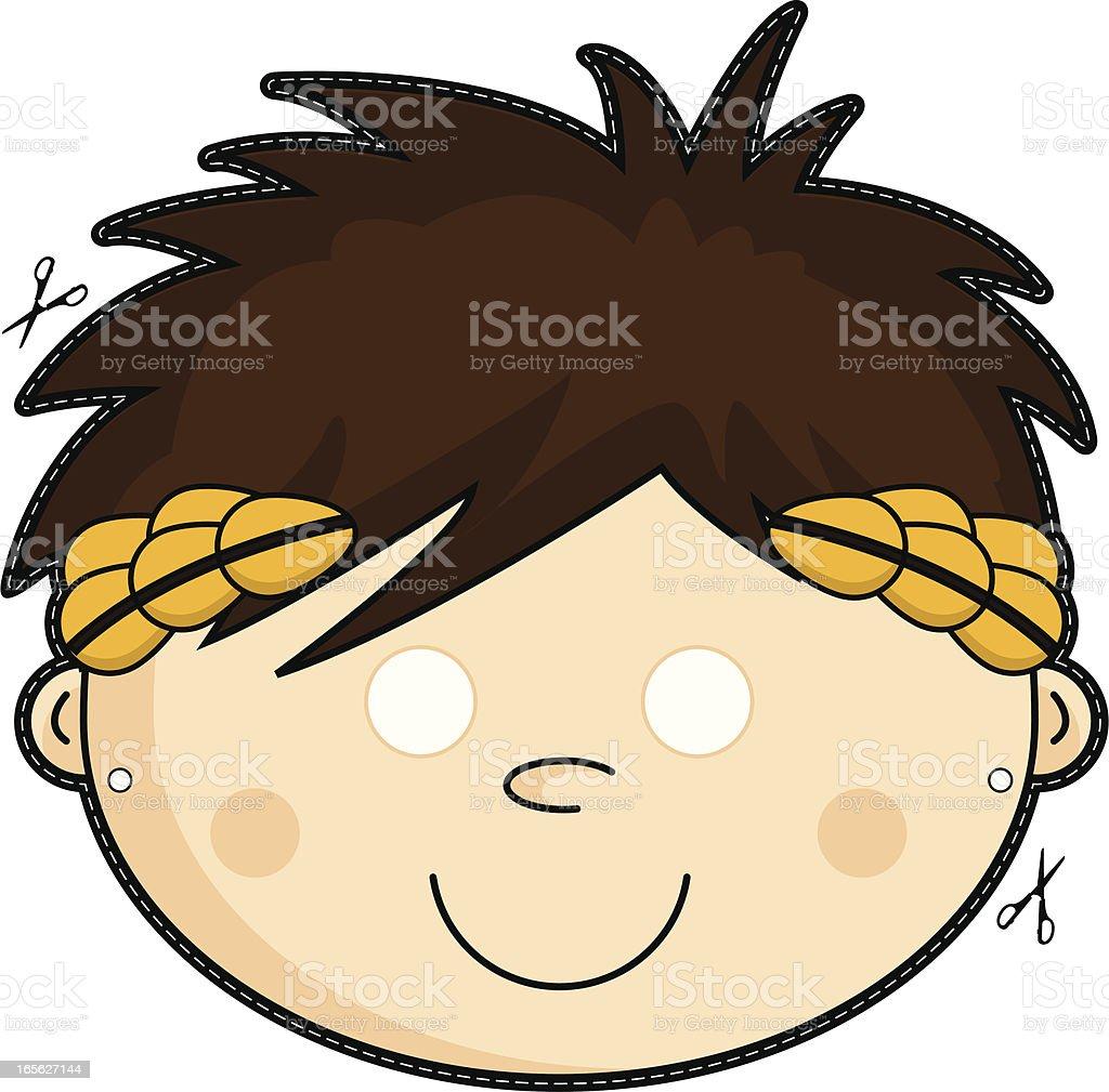 Kids Roman Emperor Mask royalty-free kids roman emperor mask stock vector art & more images of adult