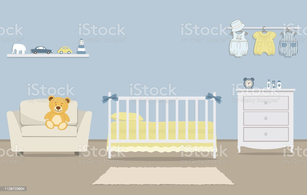 Kinderzimmer Fur Ein Neugeborenes Baby Innen Schlafzimmer Fur