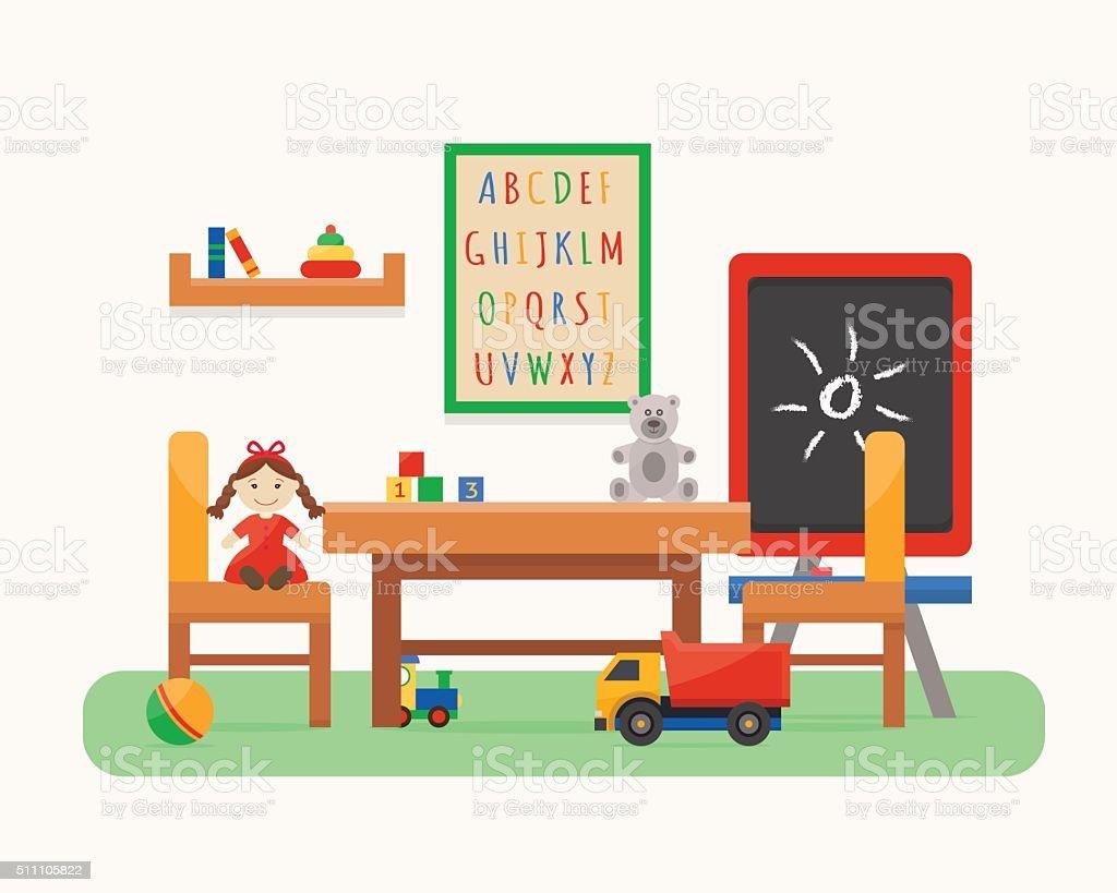 kids room kindergarten preschool playground stock vector art & more