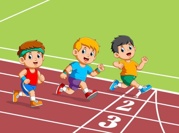Corredores Niños Corriendo Maratón De Capacitación Para Al Aire Libre - Banco de fotos e imágenes de stock - iStock