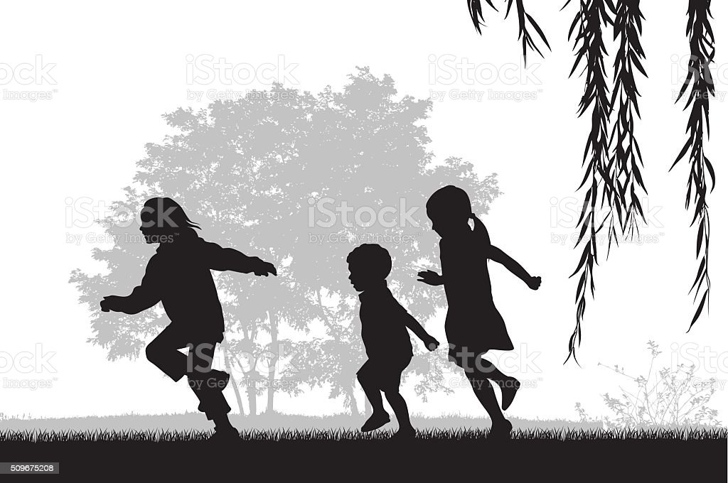 Kids Running Outdoors