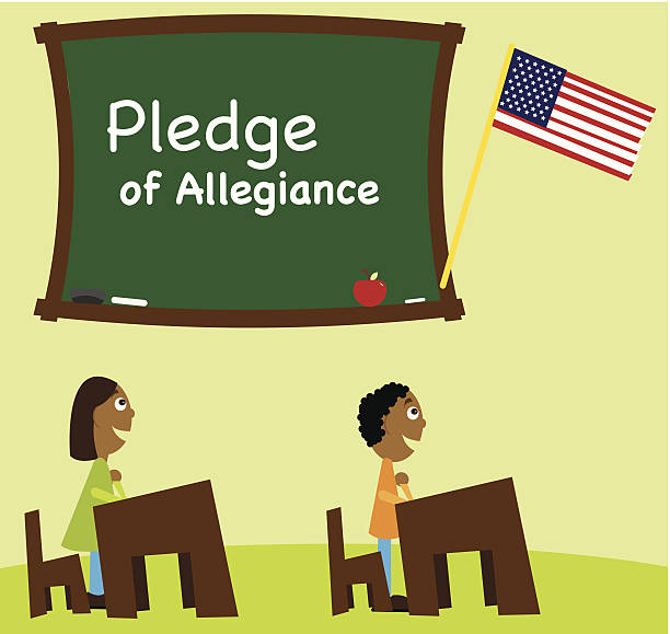 Best Pledge Of Allegiance Illustrations, Royalty-Free Vector