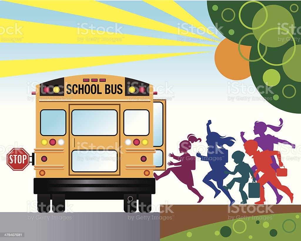 Kids School Bus C vector art illustration