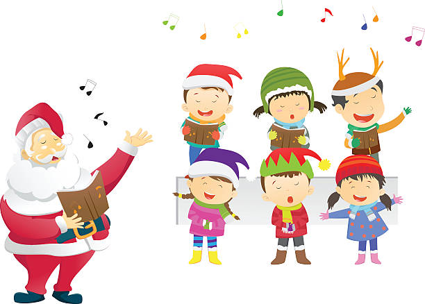 Royalty Free Christmas Carolers Clip Art, Vector Images ...