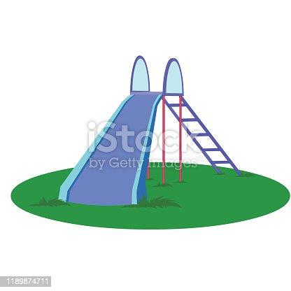 Kids Sliding Board - Cartoon Vector Image