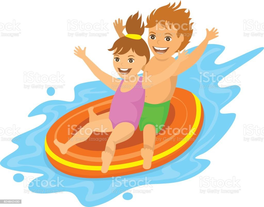 royalty free family water park clip art vector images rh istockphoto com water park ride clipart water park clipart free