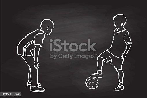 Kids Soccer Friends Chalkboard
