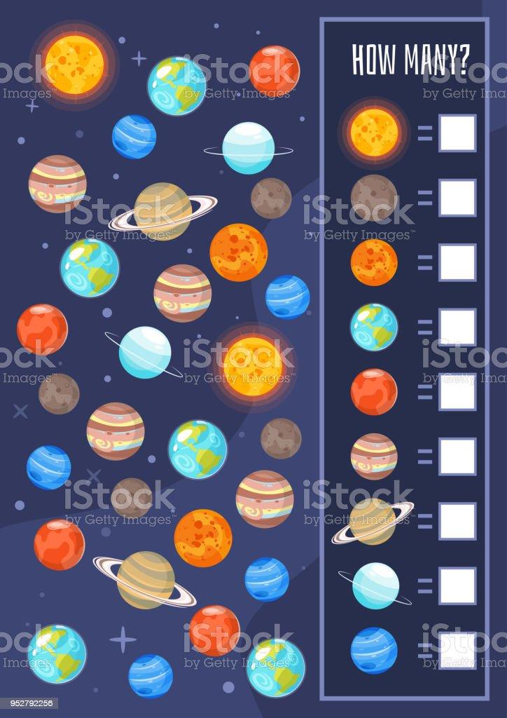 Kinder Space Brettspiel Vorlage Stock Vektor Art Und Mehr Bilder Von