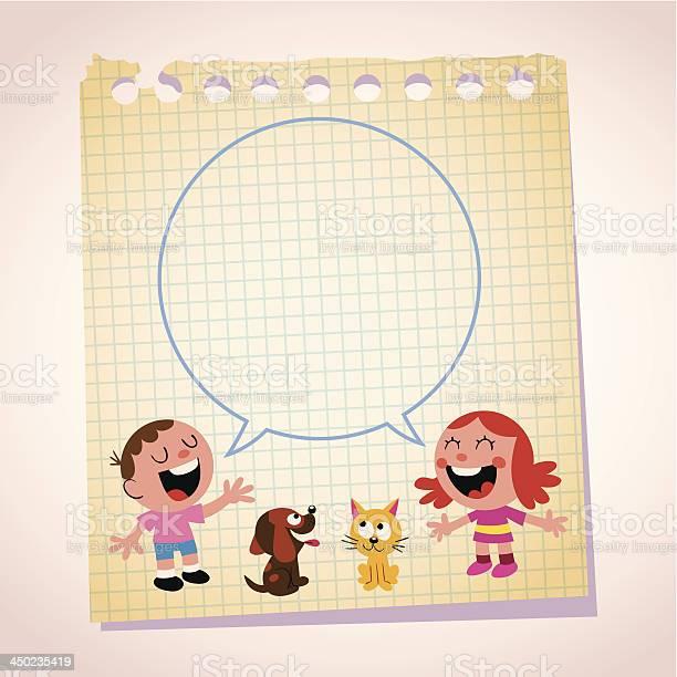 Kids speech bubble note paper cartoon illustration vector id450235419?b=1&k=6&m=450235419&s=612x612&h=2pr4umrn26lveubbt epncfurqbaygxtmoalv9rpnnc=