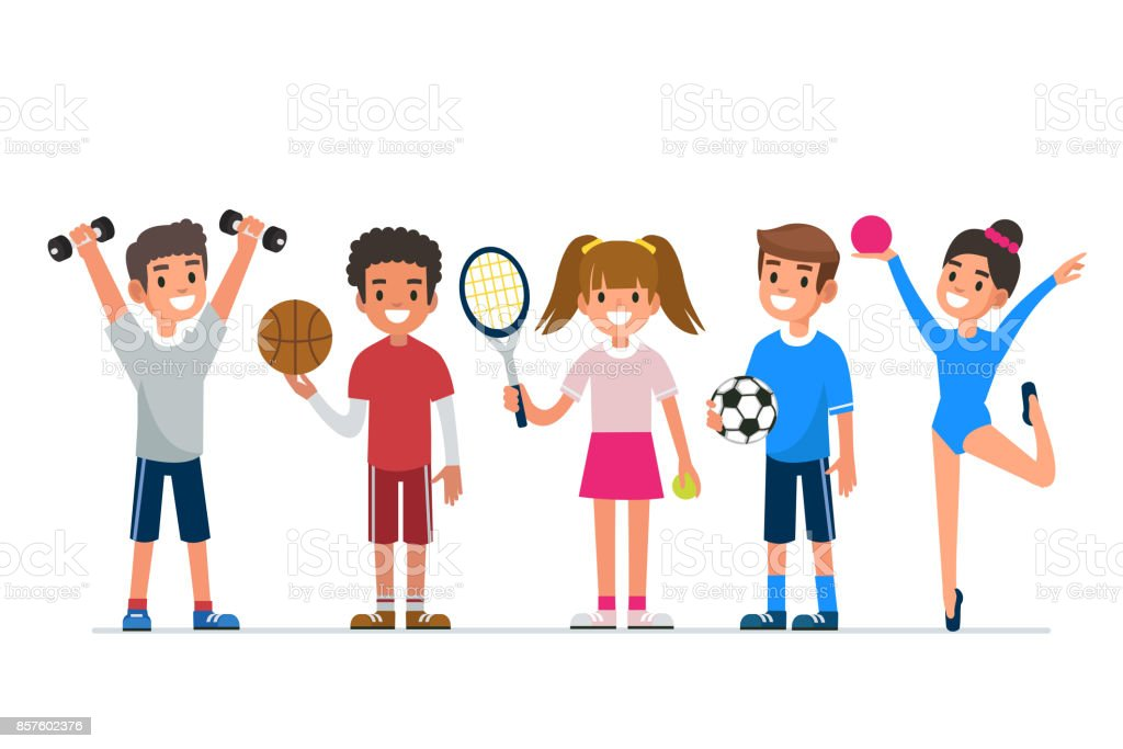 kid's sport vector art illustration