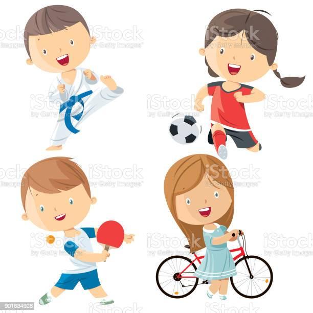 Kids sports characters vector id901634928?b=1&k=6&m=901634928&s=612x612&h=hgvyj9dfxok8lyxgco8evieac ql6qgggmzabcvbn6k=