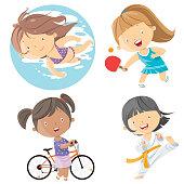 Vector kids sports