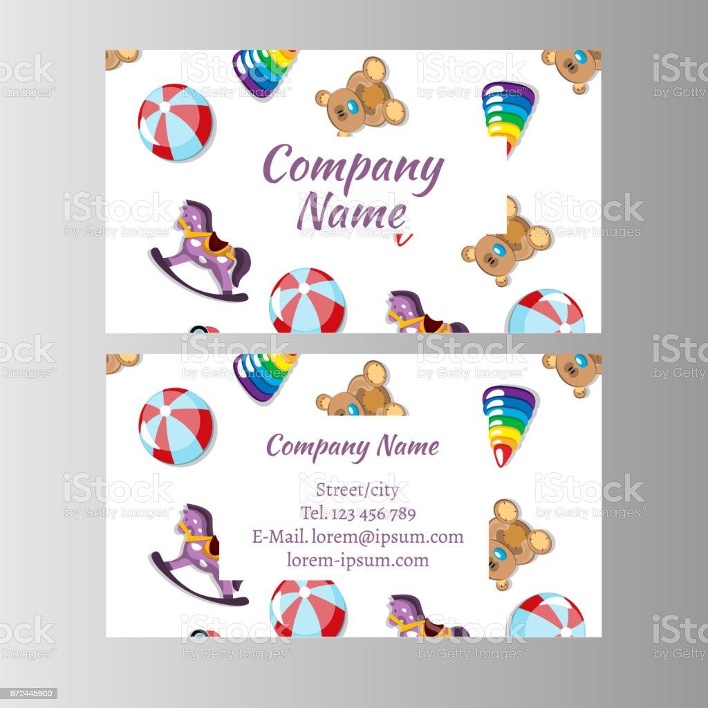 Kinder Shop Baby Shop Visitenkarte Vorlage Stock Vektor Art Und Mehr Bilder Von Abstrakt
