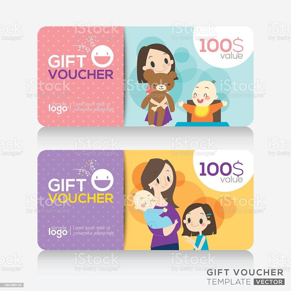 Kids store coupon voucher or gift card design template stock kids store coupon voucher or gift card design template royalty free stock vector art yelopaper Image collections
