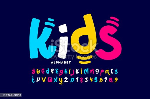 istock Kids style playful font 1225067829